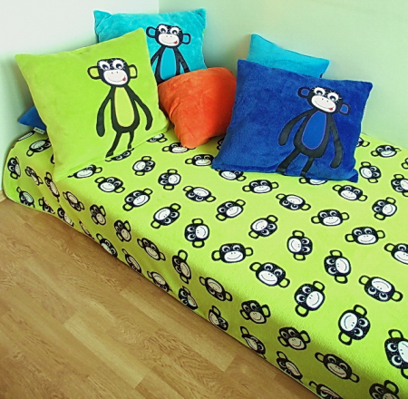 Tagesdecke Monkey Green
