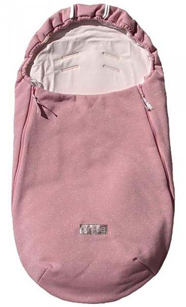 Dünner Fußsack Shine Soft Pink