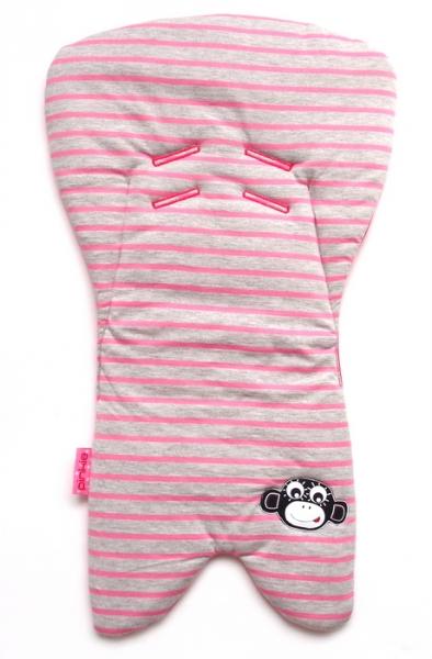 Einlage für die Babyschale Stripes Grey/Pink