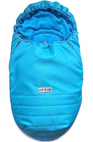 Winterfußsack Pinkie Plain Turquoise Blue