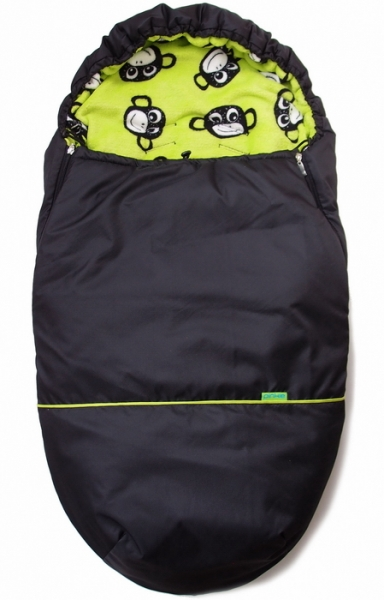 Winterfußsack Black Green Monkey