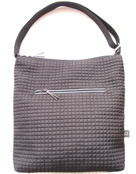 Große Wickeltasche Little Square Dark Grey