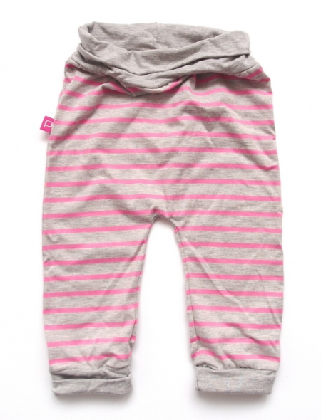 Babyhose Stripes Grey/Pink