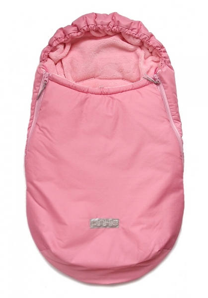 Winterfußsack Plain Soft Pink 0-12 Monate