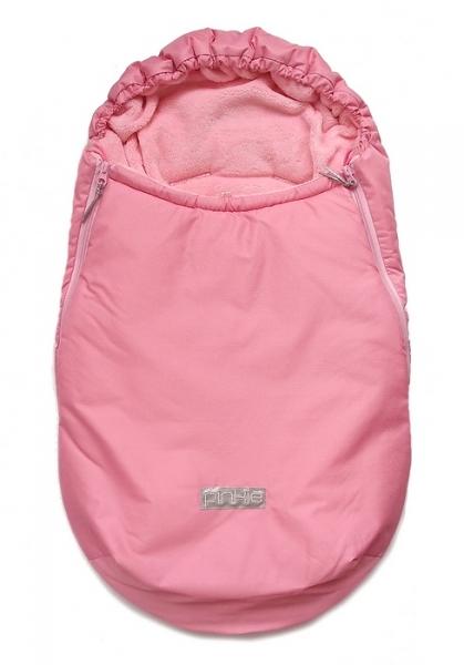 Winterfußsack Plain Soft Pink 0-12 Monate