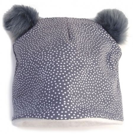 Mütze Grey Dots Bobble