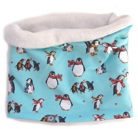 Schlauchschal Turquoise Penguin