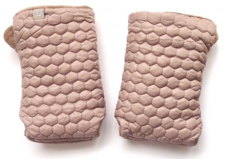 Kinderwagenhandschuhe Taupe Comb