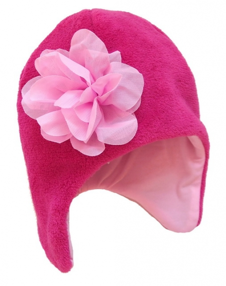 Mütze Snow Flower Pink