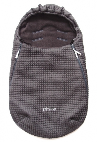 Fußsack Little Square Dark Grey 0-12 Monate