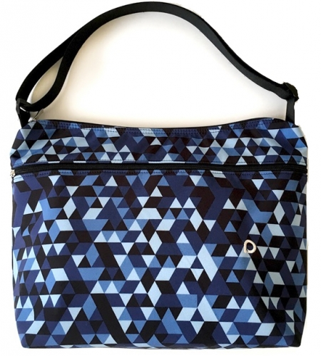 Wickeltasche Blue Triangle