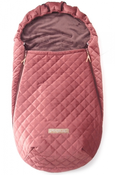 Dünner Fußsack Pinkie Velvet Bronze