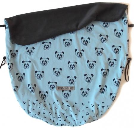 Zubindbare Decke Mister Panda Blue