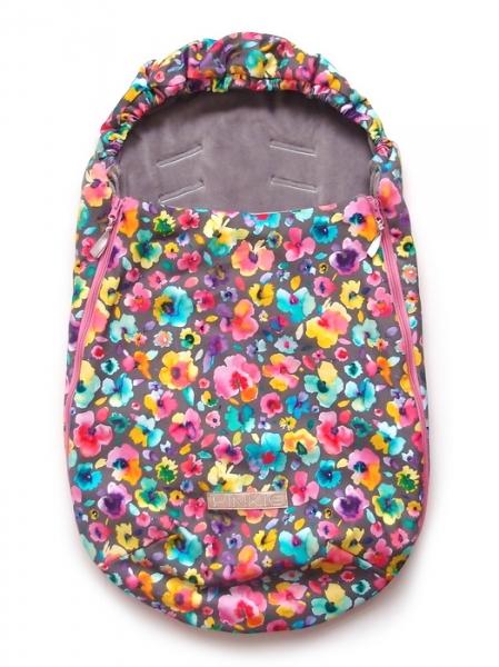 Fußsack Pinkie Neon Flowers 0-12 Monate