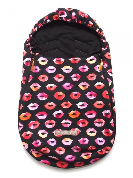 Fußsack Pinkie Kiss Black 0-12 Monate