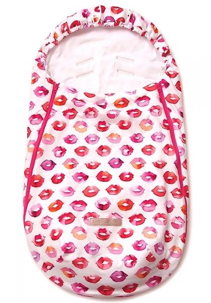 Dünner Fußsack Pinkie Kiss White