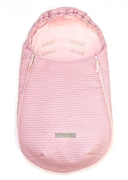 Fußsack Light Pink Comb 0-12 Monate