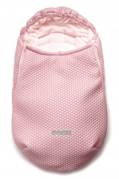 Winterfußsack Light Pink Comb 0-12 Monate