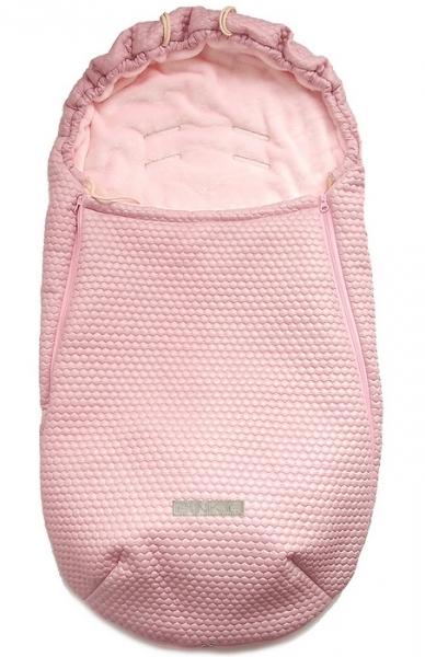 Dünner Fußsack Pinkie Light Pink Comb