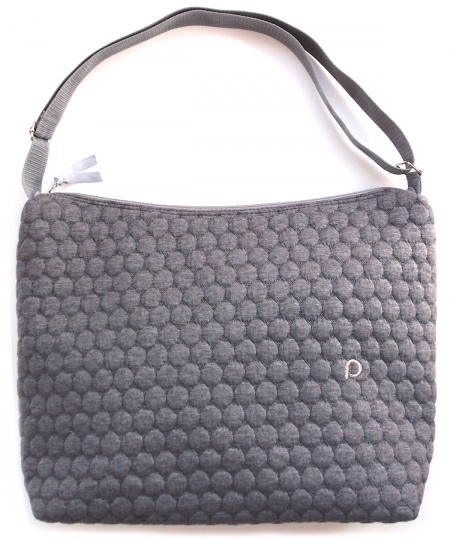 Wickeltasche Circle Grey