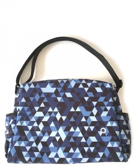 Wickeltasche Blue Triangle S