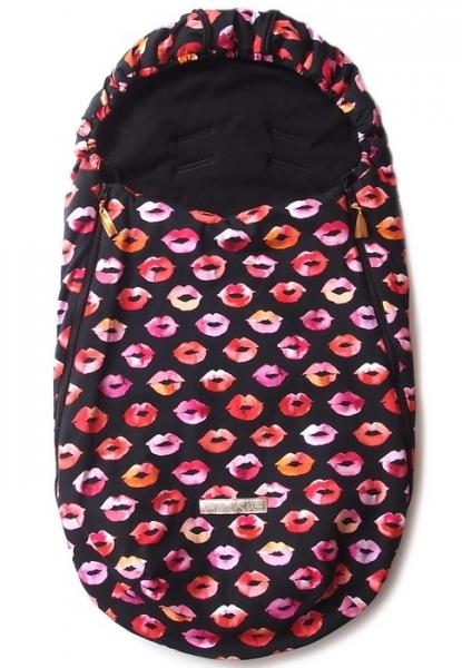 Dünner Fußsack Pinkie Kiss Black