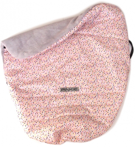 Warme zubindbare Decke Pinkie Drop Pink
