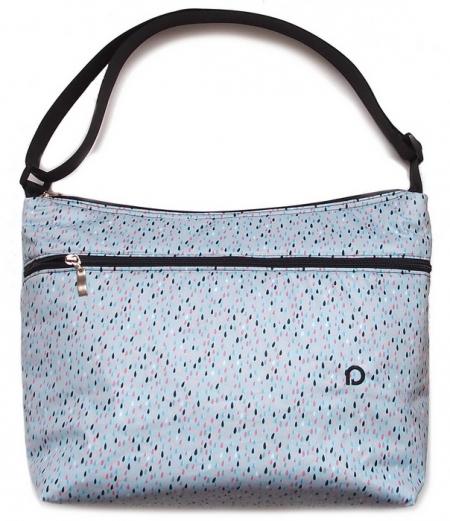 Wickeltasche Drop Blue