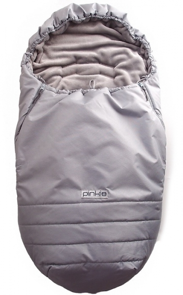 Winterfußsack Pinkie Plain Grey