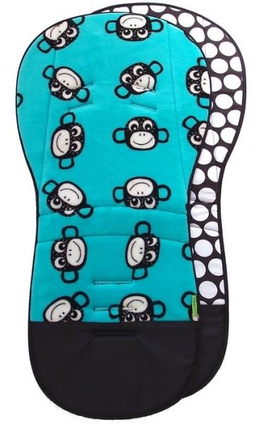 Verlängerte Sitzeinlage Monkey Turquoise