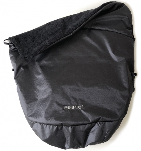 Warme zubindbare Decke Pinkie Black