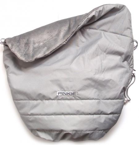 Warme zubindbare Decke Pinkie Plain Grey