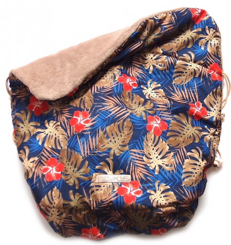 Warme zubindbare Decke Pinkie Palm