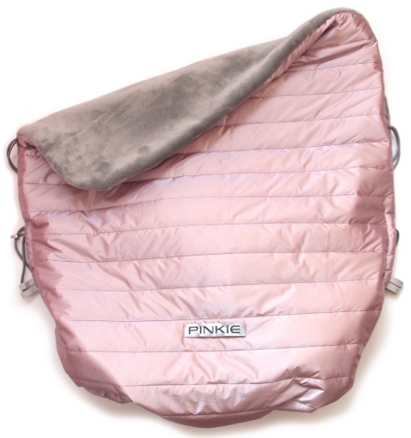 Warme zubindbare Decke Pink Line