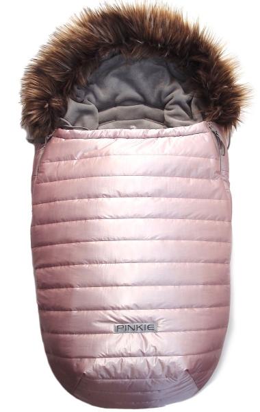 Fußsack Pinkie Pink Line mit Pelzkragen