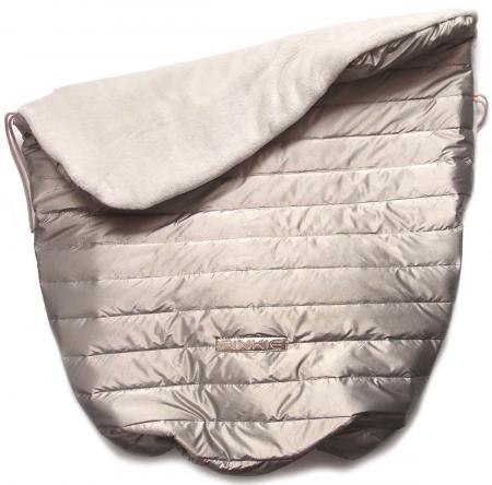 Warme zubindbare Decke Taupe Line