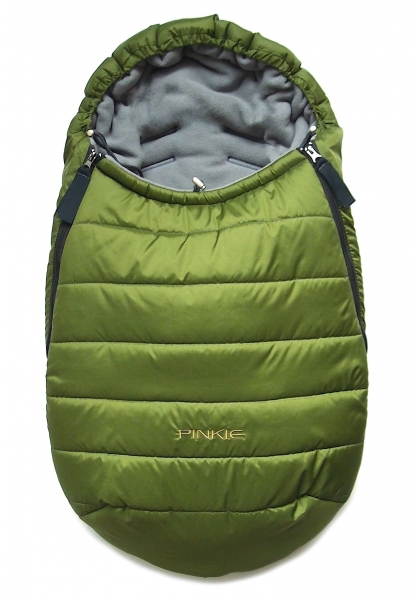 Winterfußsack Pinkie Green 0-12 Monate
