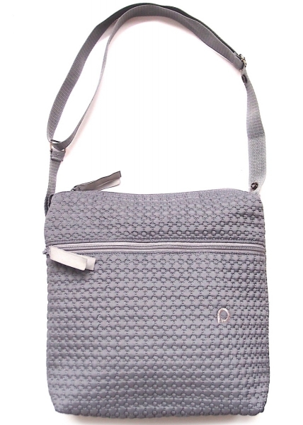 Kleine Wickeltasche Small Grey Comb-crossbody