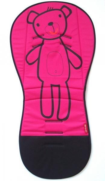 Verlängerte Sitzeinlage Pink Teddy