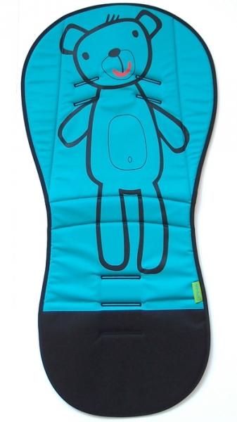 Verlängerte Sitzeinlage Turquoise Teddy