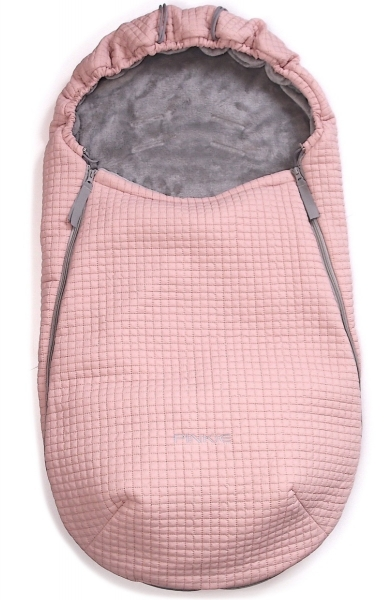 Dünner Fußsack Little Square Soft Pink