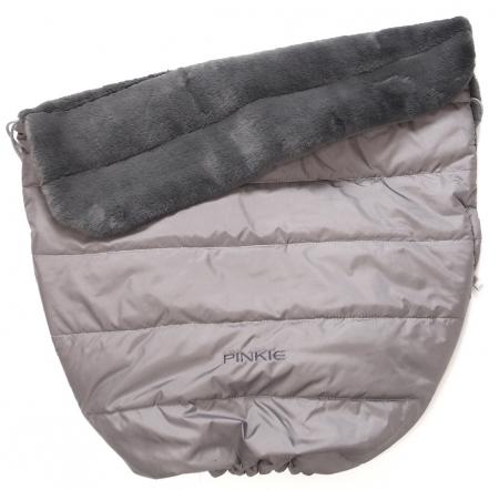 Warme zubindbare Decke Pinkie Fur Grey