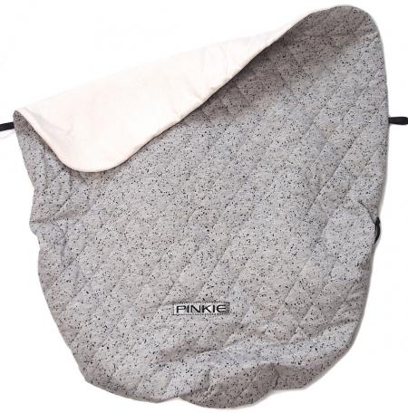 Zubindbare Decke  Marble Grey Black BIO