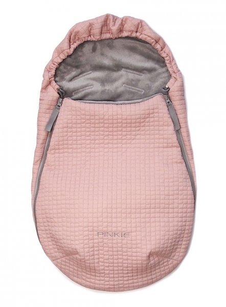 Dünner Fußsack Little Square Soft Pink 0-12 Monate