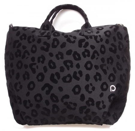 Wickeltasche Animal Black