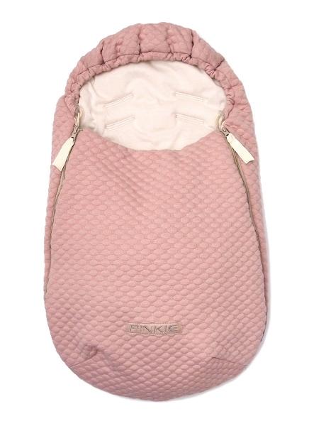 Dünner Fußsack  Pink BIO 0-12 Monate