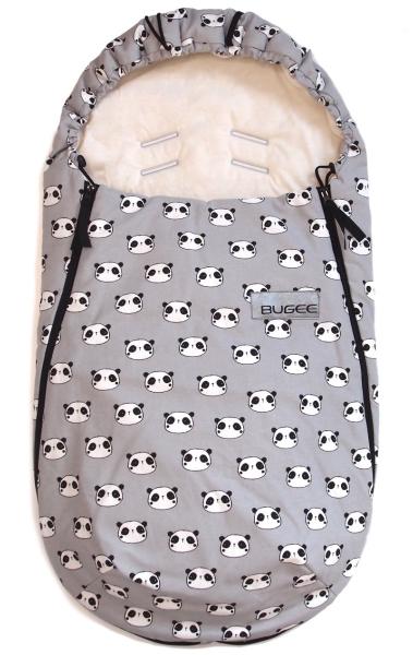 Dünner Fußsack  Panda Grey BIO