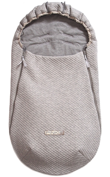 Dünner Fußsack Diamond Light Grey BIO