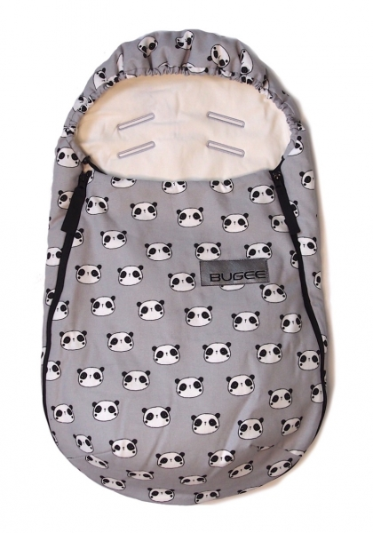 Fußsack Bugee Panda Grey 0-12 Monate