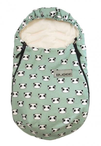 Fußsack Bugee Panda Mint 0-12 Monate